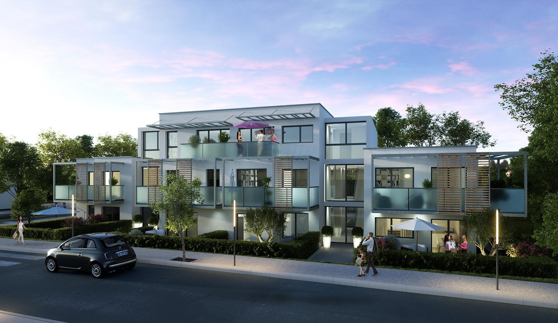 Perspective 3d projet immobilier Perpignan